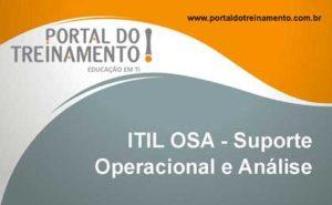 Service Capability - ITIL OSA - Suporte Operacional e Análise