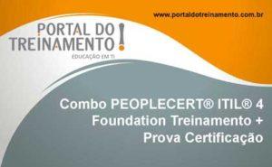 Combo PEOPLECERT® ITIL® 4 Foundation Treinamento + Prova Certificação - Portal do Treinamento